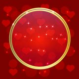 Illustration of a Valentines Day Card. Royalty Free Stock Photos