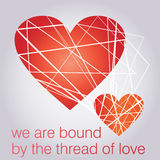 Illustration of a Valentines Day Card Royalty Free Stock Photo