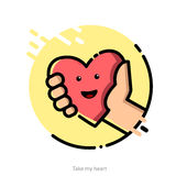 Illustration for Valentines Day greeting card Stock Image