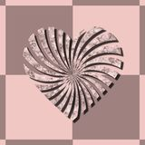 Illustration Valentines Day with heart. Background Stock Photos