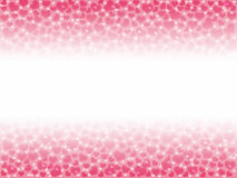 Illustration of a Valentines Day, heart bokeh background with co. Py space stock illustration