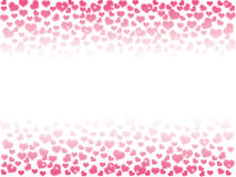 Illustration of a Valentines Day, heart bokeh background with co. Py space Stock Photography