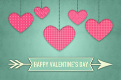 Illustration for Valentines Day with Heart Symbols Royalty Free Stock Image