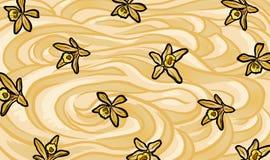 Illustration of vanilla custard Stock Images