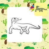 Illustration of varan (komodo dragon) Stock Images