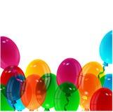 Illustration of varicoloured balloons Stock Image