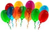 Illustration of varicoloured balloons Stock Photography