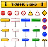 Various traffic signs. Illustration of various traffic signs on white background Stock Photos