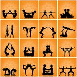 Various yoga poses. Illustration of various yoga poses Royalty Free Stock Photo