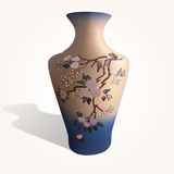 Illustration of a vase with sakura Royalty Free Stock Image