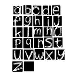 Illustration vector alphabet. Hand drawn english lowercase  lett Royalty Free Stock Image