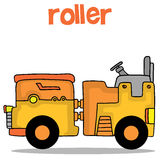 Illustration vector art of roller. Collection stock Stock Photo