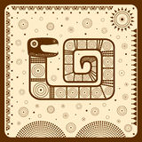 Illustration, vector, background, symbol, fish, graphic, ethnic, tribal, indigenous, American, African, Mexican, Indian, Maya, dec Stock Photography
