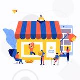 Illustration vector business concept. stock illustration