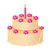 Illustration of vector celebratory cake Stock Photo