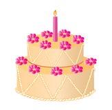 Illustration of vector celebratory cake. Vector illustration of celebratory cake Stock Photo