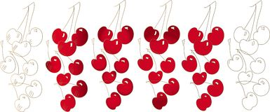 Illustration vector cherry Stock Images