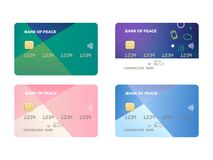 Illustration of Vector Credit and Debit Card. Illustration of Vector Credit Card, isolated mock up template Royalty Free Stock Photo