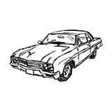 Illustration vector doodle hand drawn sketch of car, design  Royalty Free Stock Image