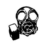 Illustration vector doodle hand drawn of sketch Gas mask. Stock Photos