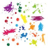 Illustration of vector drops set. Illustration of isolated vector colored drops set Royalty Free Stock Photo