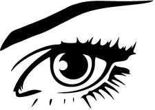 Illustration Vector Eye  Royalty Free Stock Photography