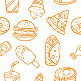 Illustration vector of food easter doodles. Collection Royalty Free Stock Photo