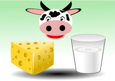 Illustration vector of food milk derivated Royalty Free Stock Image