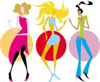 Illustration vector girls Royalty Free Stock Images
