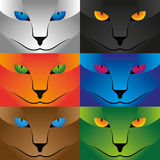 Illustration Vector Graphic Collection Cat Face Stock Photography
