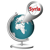 Illustration Vector Graphic Globe Syria Stock Photo