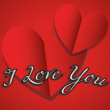 Illustration Vector Graphic Hearts, Love and Romantic Stock Images