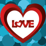 Illustration Vector Graphic Hearts, Love and Romantic Royalty Free Stock Photo