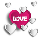 Illustration Vector Graphic Hearts, Love and Romantic Royalty Free Stock Photos