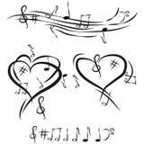 Illustration Vector Graphic I Love Music Stock Photo