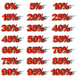 Illustration Vector Graphic Set Sale Percent Royalty Free Stock Images
