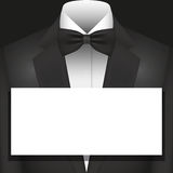 Illustration Vector Graphic Suit with Bow Tie and copyspace Royalty Free Stock Photo