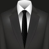 Illustration Vector Graphic Suit with Tie Royalty Free Stock Photography