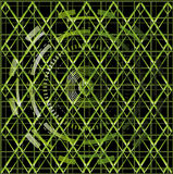 Illustration vector of green technology texture black background Stock Images