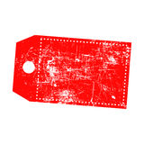 Illustration vector grunge stamp of empty red price tag with mar Royalty Free Stock Photography