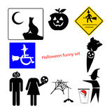 Illustration vector of halloween funny concept set with creative Stock Image