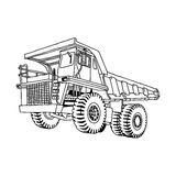 Illustration vector hand drawn doodle of dump truck  on Stock Photography