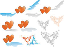 Illustration vector heart Stock Images