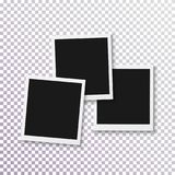 Vector Instant Photo Frame. Realistic Instant Snapshot. Modern Photography Element Royalty Free Stock Images