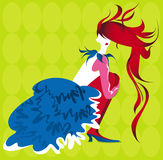 Illustration vector lady Royalty Free Stock Photos