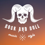 Illustration Vector Logo of Rock Music Stock Images