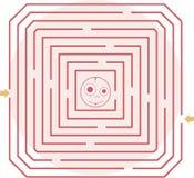 Illustration of vector maze Stock Photos