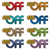 Illustration Vector of 65% off. discount banners design template, app icons, vector illustration. EPS file available. see more images related vector illustration