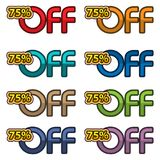 Illustration Vector of 75% off. discount banners design template, app icons, vector illustration. EPS file available. see more images related Vector Illustration