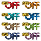 Illustration Vector of 80% off. discount banners design template, app icons, vector illustration. EPS file available. see more images related royalty free illustration